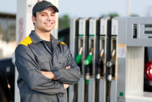 gas station employee