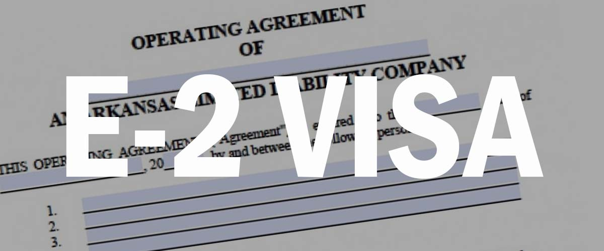 e2 visa operating agreement