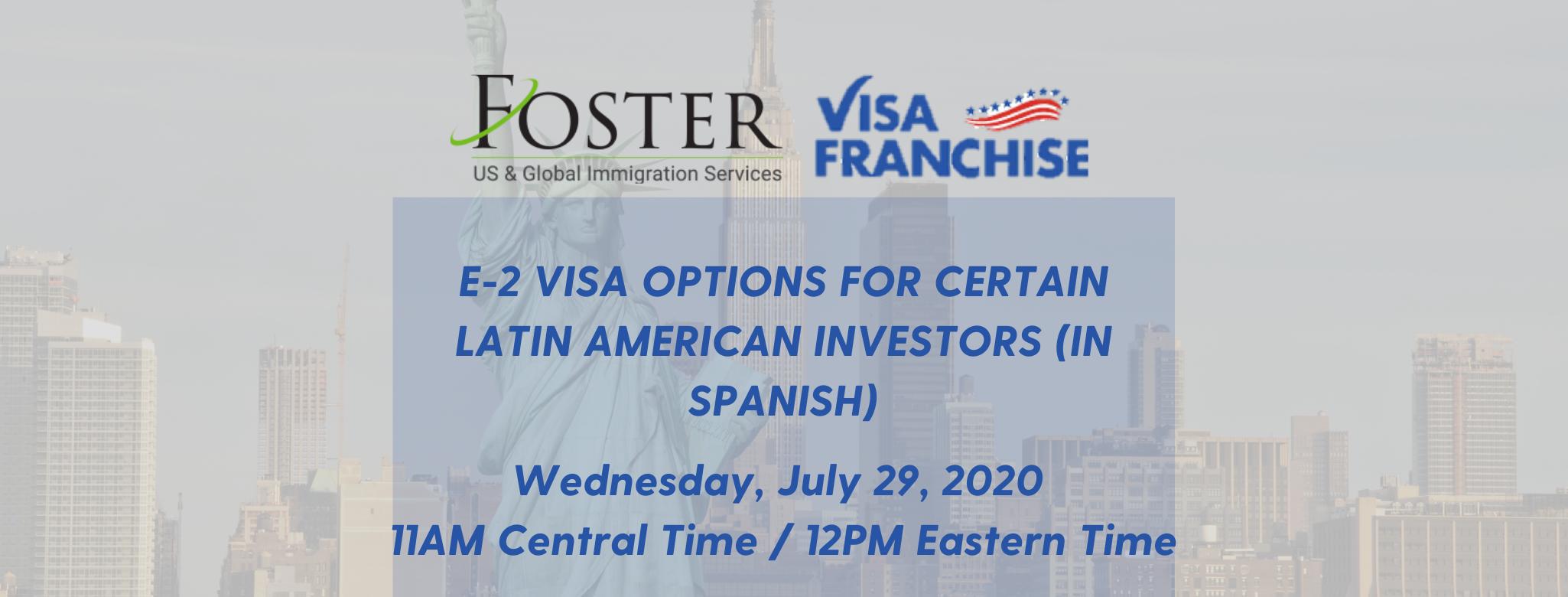 Foster Global Visa Franchise Webinar