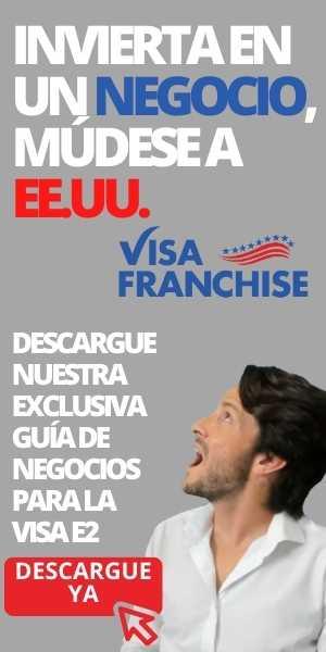 Invierta negocio mudese USA Visa franchise descargue guía negocios Cafecito con Cata visa e2